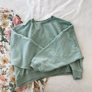 Clad & cloth   Mint green pull over sweater